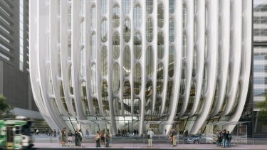 City of Melbourne's Rob Adams says the design for 600 Collins Street is not great but 'a piece of architecture by a good architect'.