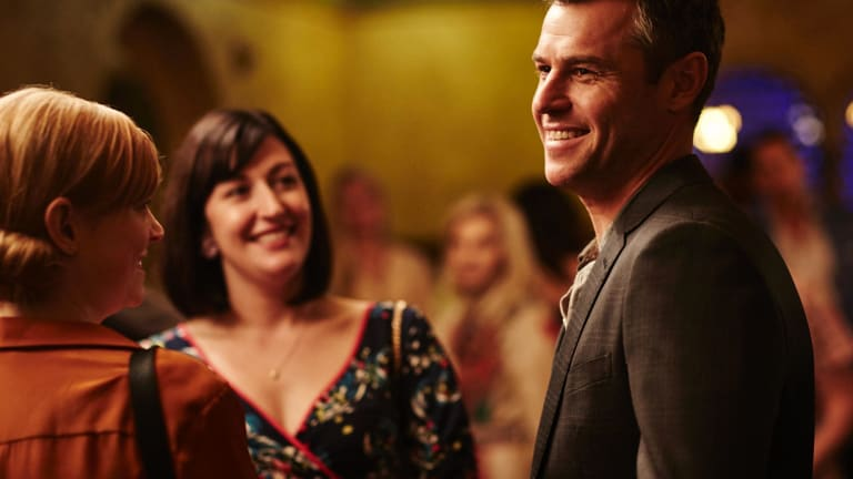 Celia Pacquola (centre) with Sarah Snook and Rodger Corser in <i>The Beautiful Lie</i>.