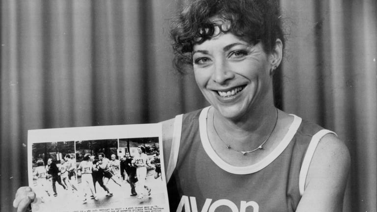 Kathrine Switzer, the woman who broke the sex barrier in the Boston Marathon back in 1967.