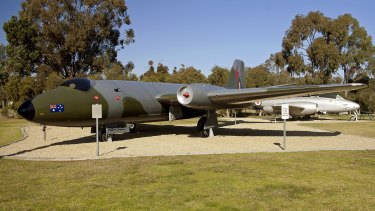 Canberra A84-235 after restoration work at Wagga Wagga in 2011.