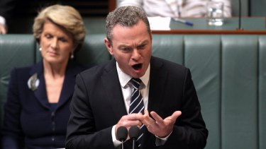 Education Minister Christopher Pyne has warned that Labor's actions could cause up to 1500 researchers to lose their jobs in the years ahead.