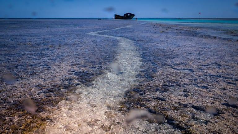 Looking dead flat at Heron Island.