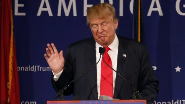 """In remarks that his Republican rival Jeb Bush called """"unhinged"""", Donald Trump suggested that all Muslims - including US citizens - should be barred from entering the country indefinitely."""