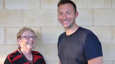 Ian Thorpe with child psychologist and bullying prevention expert Professor Marilyn Campbell.