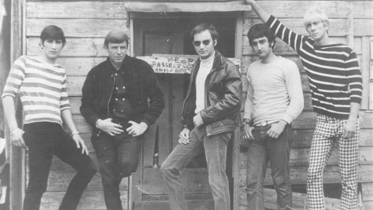 The Atlantics: Jim Skiathitis, Johnny Rebb, Theo Penglis, Bosco Bosanac, Peter Hood.