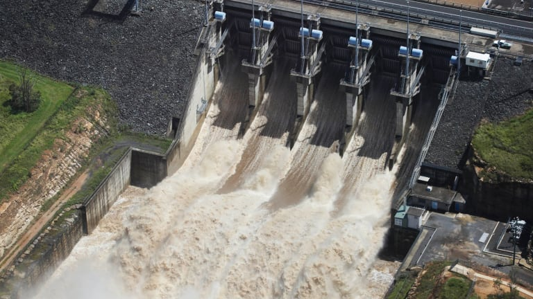The three existing river-based schemes are at Wivenhoe Dam in Queensland, pictured, Shoalhaven in NSW and the Snowy River in NSW.