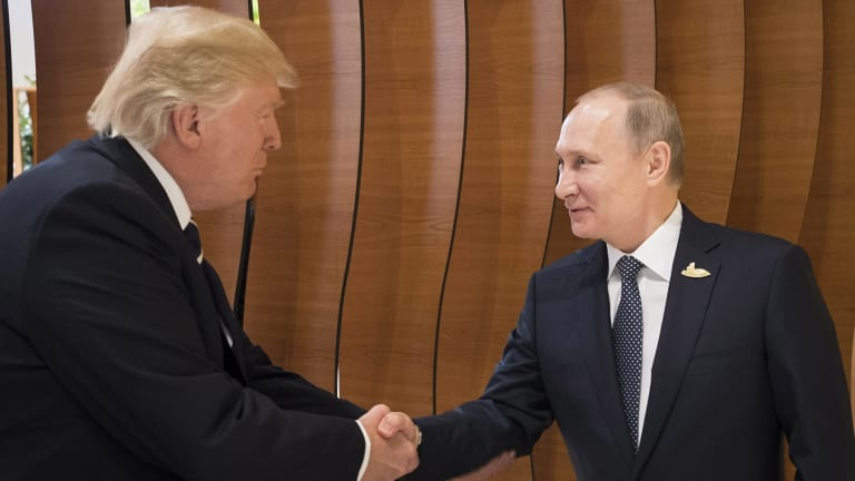 This was the first face-to-face encounter of Trump and Putin.