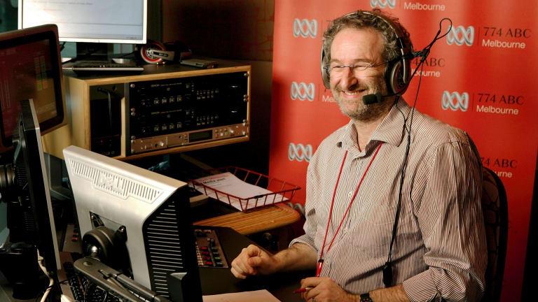 John Faine at the ABC studio.