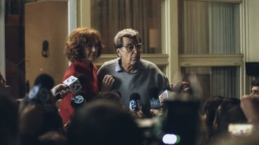 Caught in the storm: Kathy Baker and Al Pacino in Paterno.