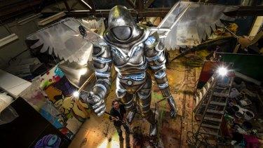 The White Knight Messenger in Joe Blanck's Coburg studio.