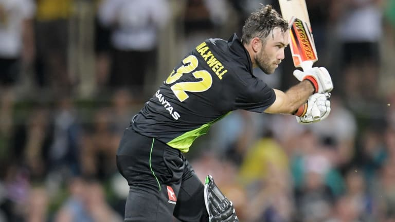 Glenn Maxwell in action Wednesday night.