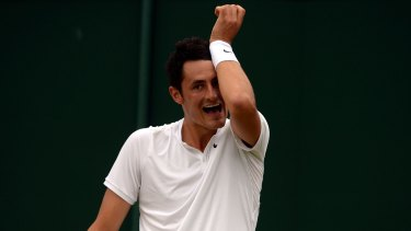 Australia's Bernard Tomic was knocked out of Wimbledon by Lucas Pouille.