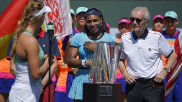 'Very lucky': Indian Wells tournament director Raymond Moore has said tennis' professional women should be on their knees thanking their male counterparts.