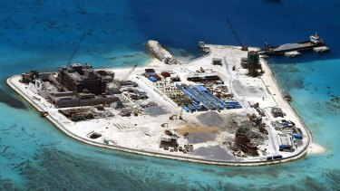 Mabini (Johnson) Reef part of the disputed islands China has built up in the South China Sea.