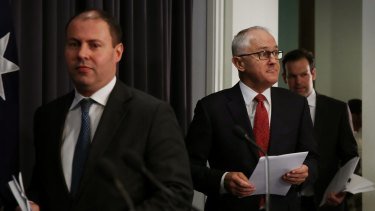 Prime Minister Malcolm Turnbull and Minister for Environment and Energy Josh Frydenberg.
