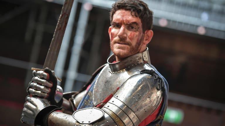 Australian actor Chris Huntly-Turner in costume for Henry V.