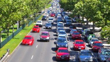 Hoddle Street, Collingwood, on Wednesday. It will close for eight days in January so works can be carried out.
