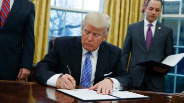 One of US President Donald Trump's first acts was an executive order to withdraw from the TPP.