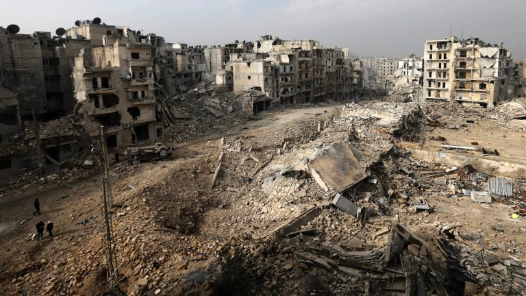 The once busy city of Aleppo, one of many Syrian battlegrounds in a conflict involving many nations, not only Middle Eastern.