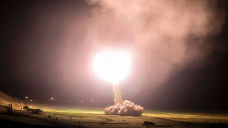 A missile fired last month from Kermanshah in western Iran, targeting Islamic State forces in Syria.
