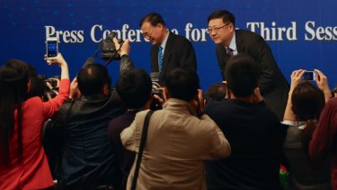 Chinese minister of environment protection, Chen Jining on Saturday with the media.