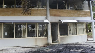 The Australian Christian Lobby headquarters in Deakin was damaged in the incident.