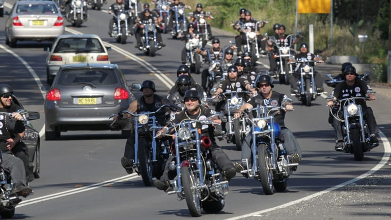 Thousands of bikies descended on Canberra in 2014 against what they called draconian legislation in NSW and Queensland.
