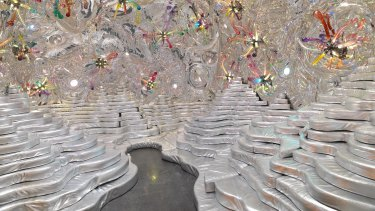 Randy Polumbo's upholstered Grotto resembles the work of a camp Doctor Who.