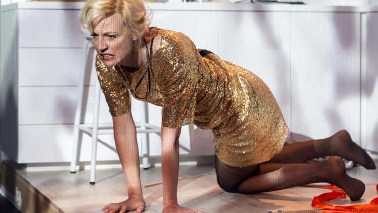 Marta Dusseldorp in Griffin Theatre's production of <i>Gloria</i>.