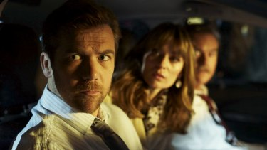 Patrick Brammall, Kat Stewart and Darren Gilshenan in No Activity. They make it look effortless.