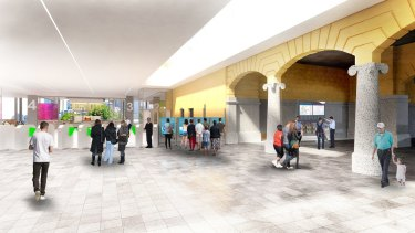An artist's impression of what part of the upgrade will look like.