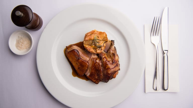 Go-to dish: Roast crown of duck, apple and rosemary clafoutis.