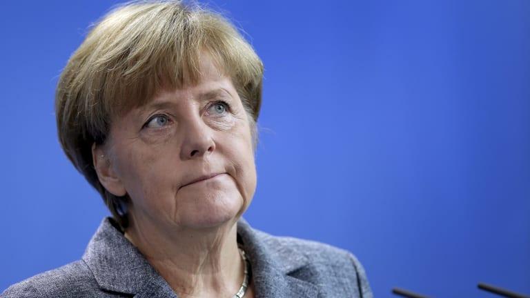 "The German response ""can make us proud,"" Chancellor Angela Merkel said."