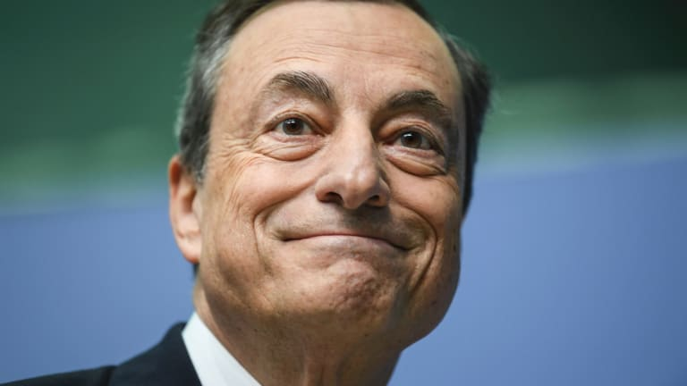 ECB president Mario Draghi: A shift is under way at the European Central Bank where several governors suggested a total halt to QE as soon as next September.