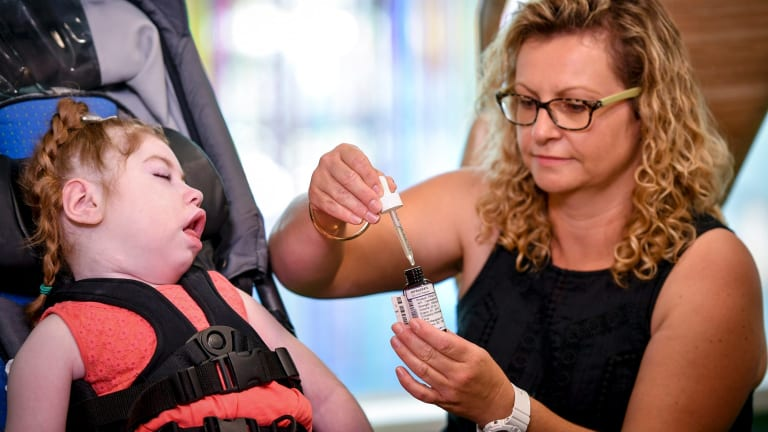 Ally Tregent's critically ill daughter Gemma, 5, is one of the early recipients of prescribed medicinal cannabis.