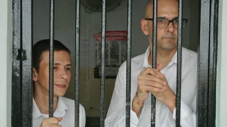 Ferdinand Tjiong, left, and Neil Bantleman, right, photographed in 2014.