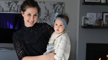 Minerva McKell (with daughter Cleo) says she felt like a failure after her first birth.