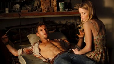 On-screen duo: Ryan Kwantan as Jason Stackhouse and Lindsay Pulsipher as Crystal Norris in True Blood.