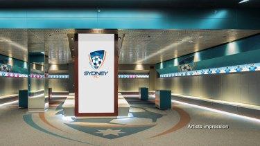 An artist's impression of the new-look Sydney Football Stadium