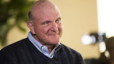 Steve Ballmer no longer runs Microsoft, and he now tweets from an iPhone.