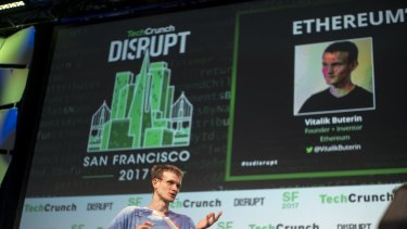Disrupters: Vitalik Buterin, co-founder of Ethereum Foundation and Bitcoin Magazine, at a conference last month.