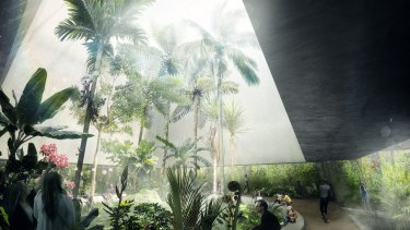 An artist's impression of the new Ian Potter National Conservatory, expected to be in the Australian National Botanic Gardens by 2018.