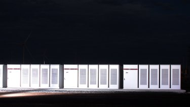 Tesla Powerpacks used to form the mega battery..