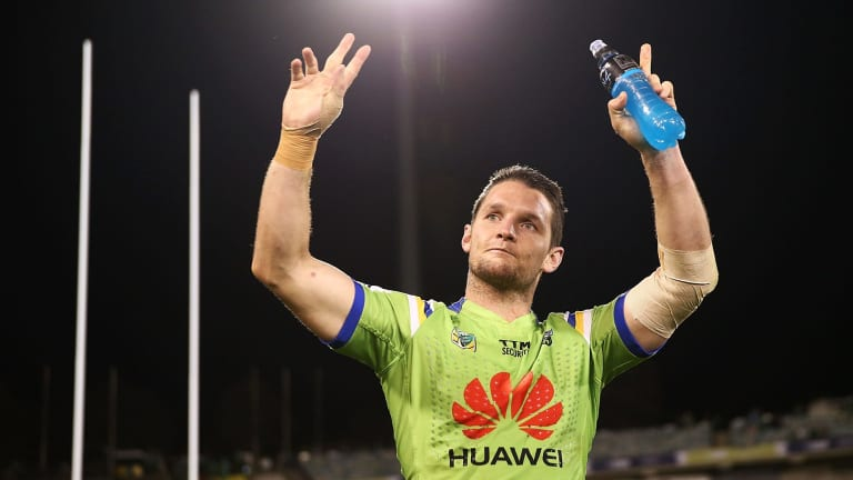 Raiders captain Jarrod Croker was named the NRL's captain of the year.