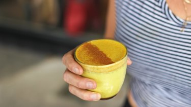 A turmeric latte, also containing cinnamon, ginger and black pepper, is becoming the favoured morning pick-me-up for health aficionados.