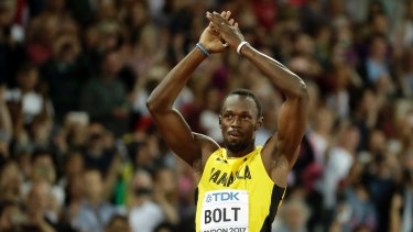 Usain Bolt in London.