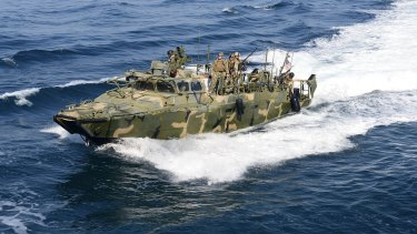 A Riverine Command Boat like the ones held in the Gulf by Iran.
