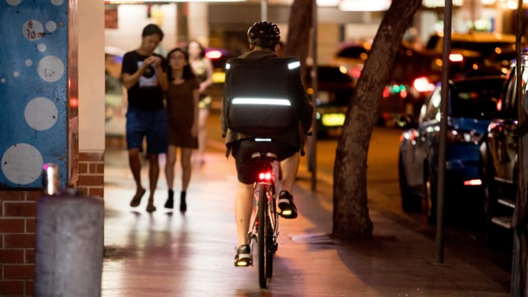 Cyclists in NSW are not allowed to ride on a footpath, except in limited circumstances, including if they are under the age of 12.