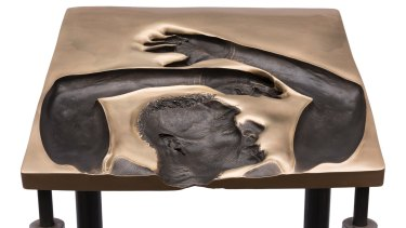 Julie Rrap's <i>Speechless 1</i> reworks Dupain's photograph as a sculpture.