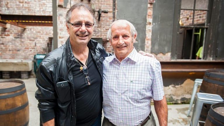 Monaro Football Club founding members Mario Donda Junior 71, and Mirco Pavan 76.